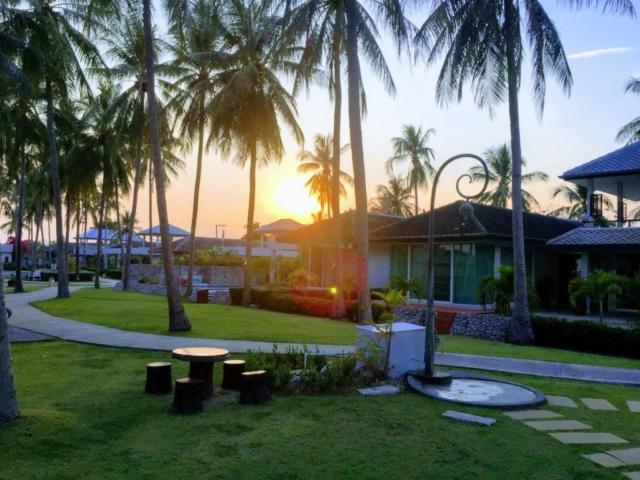 Området vid solnedgång.